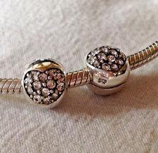 Unbranded Sterling Silver Australian Crystal Heart Clip~European Bead Charm