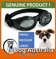 Doggles ORIGINALZ Dog Gorggle Eye Protection Sunglasses Black Frame/Smoke Lens