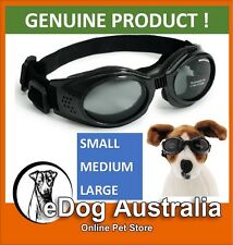 Doggles ORIGINALZ Dog Gorggle Eye Protection Sunglasses Black Frame/Smoke Lens