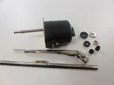 Universal Black Windshield Wiper Kit, 12V Motor, Chevy Ford Mopar Jeep