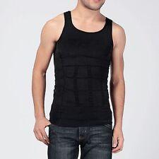 Men's Slim Body Shaper Tummy Belly Fatty Underwear Vest T Shirt Corset Shapewear