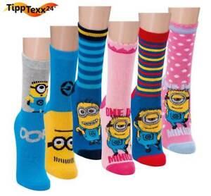 3 Paar Kindersocken MINIONS Kids Ankle Socks gemischte Motive für Jungen Mädchen