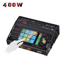 HTRC AC DC 400W Dual Channel for RC LiPo LiFe Battery Balance Charger discharger