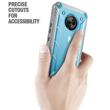 Poetic [Revolution] TPU Case Cover Built-in-Screen Protector For Moto X4 Blue