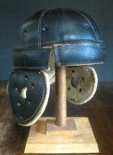 KILLER Old Antique Early 1920's Dog Ear Black Leather Vintage Football Helmet