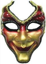 Máscara Facial Completa. Red/gold, Masquerade Máscara De Ojo, enmascarados bola, vestido De Lujo