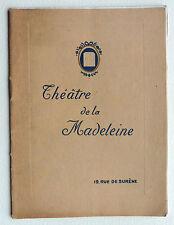 PROGRAMME THEATRE DE LA MADELEINE BRODWAY 7 MERRY MAKERS JAZZ LOUVAIN FIELD h803