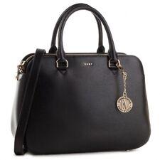 DKNY Bryant Sutton Medium Handbag Satchel Bag Black Gold New