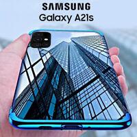 COVER per Samsung Galaxy A21s CUSTODIA ELECTRO + PELLICOLA VETRO TEMPERATO 9H