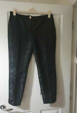 Ted Baker Size 4 Black Patterned Trousers Womens