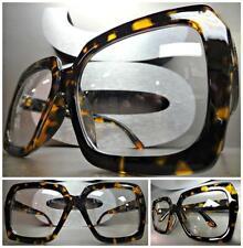 HUGE OVERSIZE VINTAGE Style Clear Lens EYE GLASSES Thick Tortoise Fashion Frame