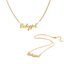 Women Stainless Steel Necklace Baby Girls Pendant Choker Necklace Best Gift