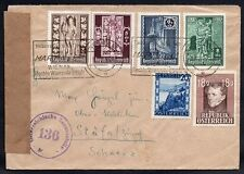 Germany accounted for the Austrian period 1947.7.21 Vienna to Swiss a letter