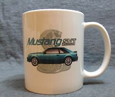 Teal 1993 Ford Mustang Cobra SVT Coffee Cup, Mug -Sharp Image- Classic 90s - New