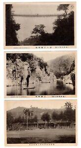 Japan 3 old postcards