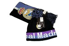 Real Madrid C.F. Official Licensed Product Soccer Scarf Beanie Combo - 01