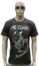 Amplified Official the Clash Silver Foil Dragon Vintage Rock Star Vip T-SHIRT L