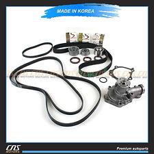 99-06 Fits Hyundai Santa Fe Sonata Kia 2.4L Timing Belt V-Belt Water Pump Kit