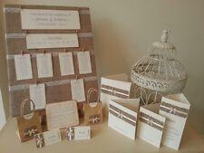 10 x Handmade Rustic Hessian Vintage Wedding Stationery Invite Invitation