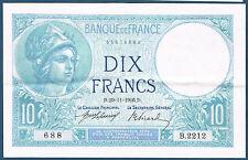 FRANCE - 10 FRANCS MINERVE Fayette n° 6.1 du 29=11=1916.D en SUP   B.2212 688