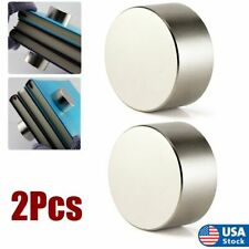 2pack N52 Large Neodymium Rare Earth Magnet Big Super Strong Huge Size 40mm20mm