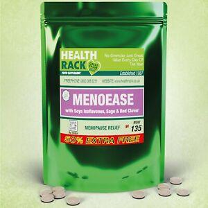 Menoease Soya Isoflavones with Sage, 135 Vegan Tablets, Menopause HRT HealthRack