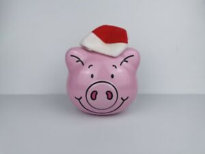 Percy Pig Tin With Santa Hat - Empty