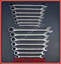 CRAFTSMAN TOOLS 14pc FULL POLISH SAE & METRIC Combination Ratcheting Wrench set