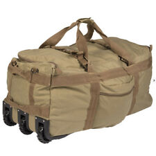 Mil-Tec Large Wheeled Travel Kit Gear Equipment Bag Holdall Carryall 100L Coyote