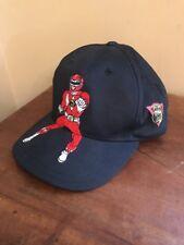 Vintage 90s Red Power Rangers 1994 snapback Baseball hat Youth Kids 4-7