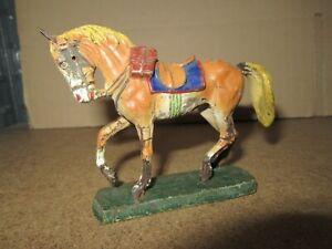 740Q 1930'S O&M Soft Elastolin Composition Germany Horse Beige H 7.9 CM