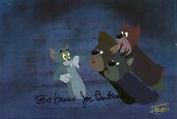 Hanna Barbera-Tom+Jerry- Tom Original Production Cel Signed Hanna and Barbera