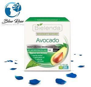 Bielenda Avocado Moisturizing Nourishing Face Cream  for Dry Skin Make Up Base