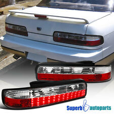 For 1989-1994 240SX S13 Coupe Replacement LED Tail Lights Brake Lamps Red