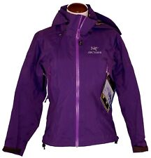 Arc'teryx Beta AR Jacket NEW Womens sz XS Gore-Tex Pro Blackberry Coat Purple