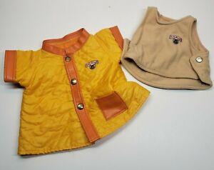 Vintage Teddy Ruxpin Replacement Vest and Orange Jacket 1985
