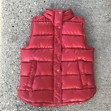 J Crew Vest Small Down Filled Puffer Red Shiny Nylon Womens