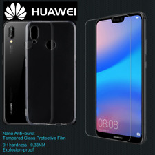 New Full Clear Gel Case /Front Tempered Glass Screen Protector Cover for HUAWEI