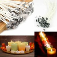 100Pcs 12cm Candle Wicks Cotton Core Pre Waxed With Sustainers For Candle Making