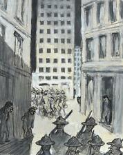 """Arpad Schmidhammer 1857-1921 München / Zeichnung """"Amerikanischer Ausmarsch"""" 1918"""