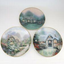 Thomas Kinkade Collector Plates - Set of 3 - Cottage Set