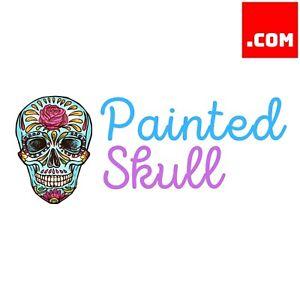 PaintedSkull.com - Short Catchy Brandable Premium Domain Name for Sale .com name