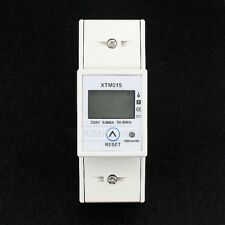 LCD Single Phase Power kWh Electricity Energy Sub Meter 5(80)A DIN Rail Mount