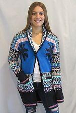 JUICY COUTURE Aprés Ski Cardigan Sweater Coat NEW w/TAG Multi Color Small $298