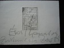 Hans Peter Raber Radierung  handsigniert Motiv Eros Thanatos Karlsruhe