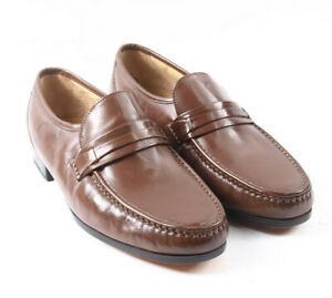 Clarks Brown Slip-on Shoes Loafers Leather Size UK 9.5
