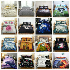 Duvet Cover 3D Bedding Set Quilt Cover with Pillow Cases Single Double King Hot