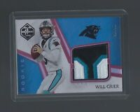 WILL GRIER  2019 Limited #RJJ-5  ROOKIE JUMBO JERSEYS RUBY  25/25  Panthers