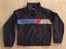 Vintage 90s Nike Air Black Windbreaker BMW M Color Block Size L RARE HIP HOP