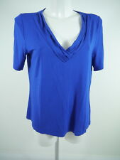 #BETTY BARCLAY Das. Shirt Longshirt Viscose blau V-Ausschnitt Gr.42